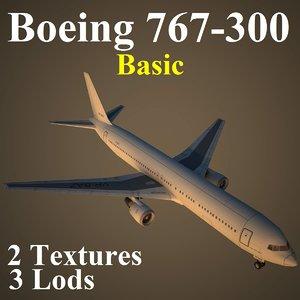 3d boeing 767-300 basic model