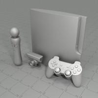 ps3 controller camera 3d model