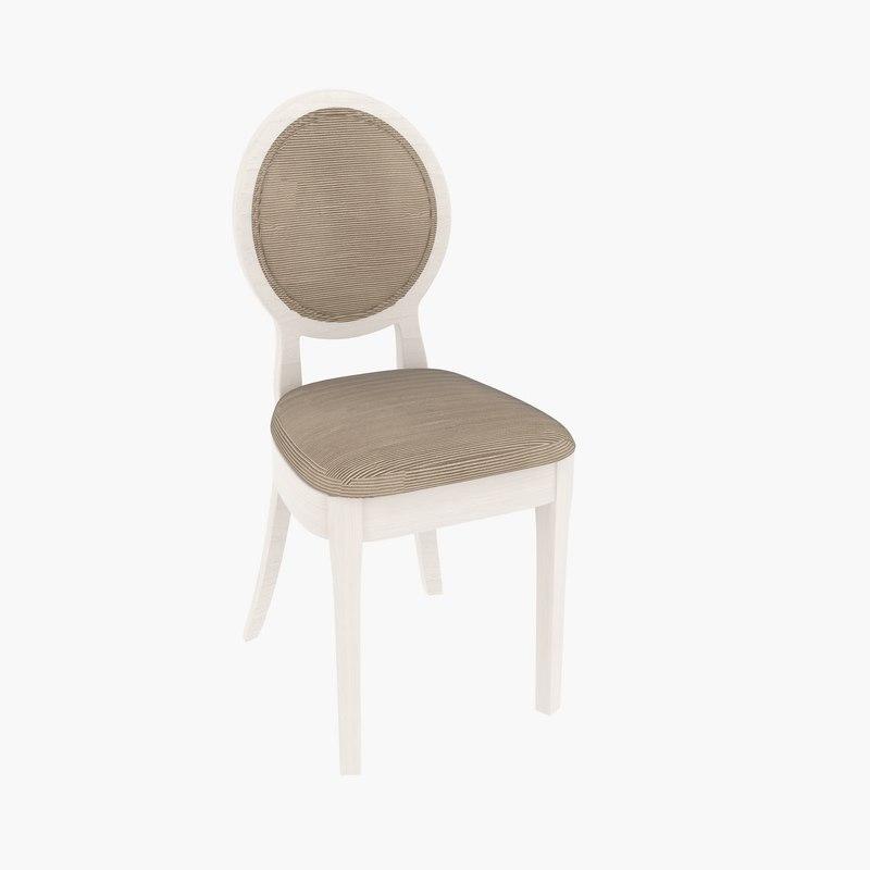 3d model sedit ducale chair design