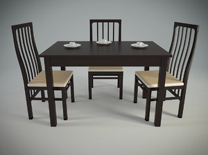 3d model kitchens desk chairs