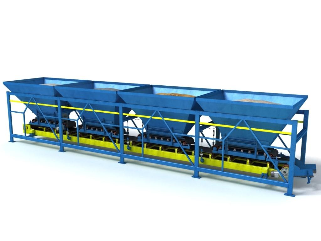 3d mixing conveyor