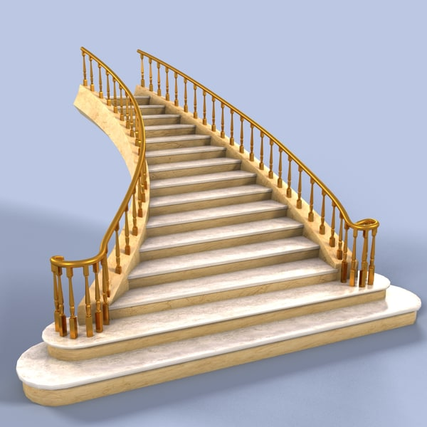 3d stair marble