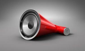 speaker dock 3d c4d
