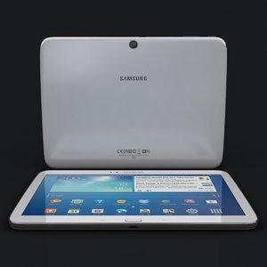 samsung galaxy tab 3 3d model