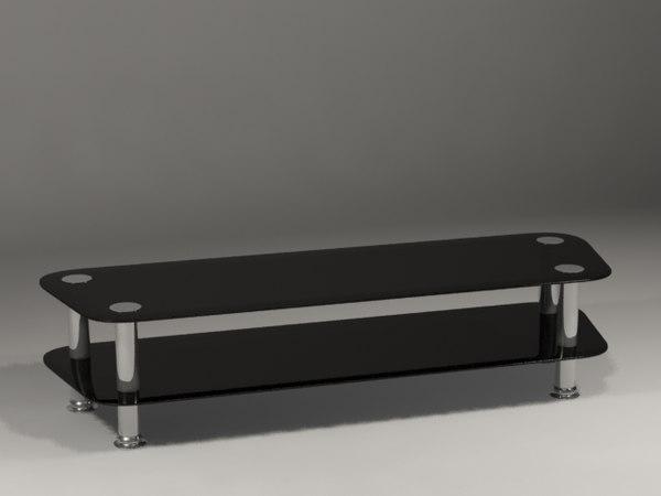 free tv table black 3d model