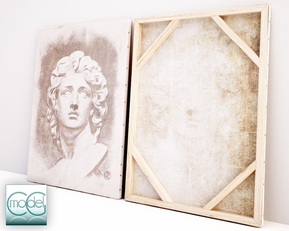 3dsmax painting canvas