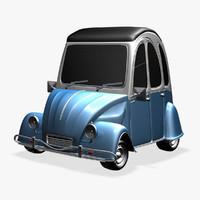 Citroen 3CV Cartoon Car DSR
