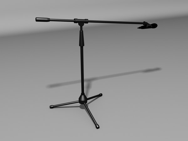 3d model microphone stand