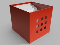 3d red box