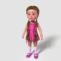 obj cartoon child girl