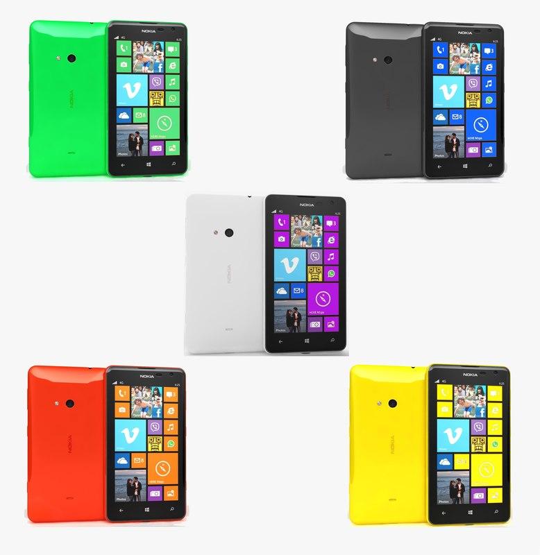 nokia lumia 625 colors 3ds