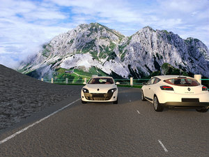mountains road 3d 3ds