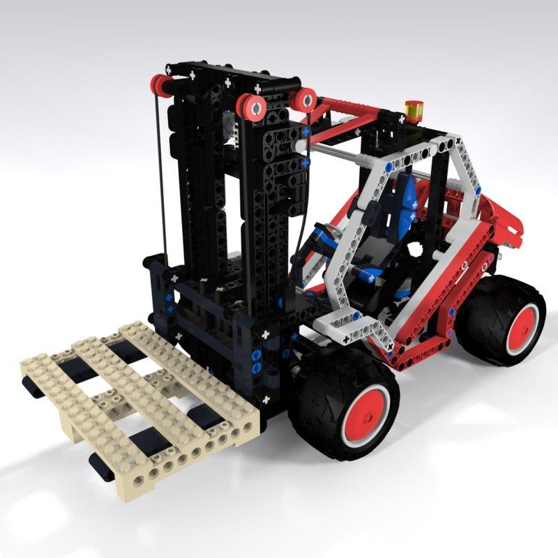 lego forklift 3d 3ds