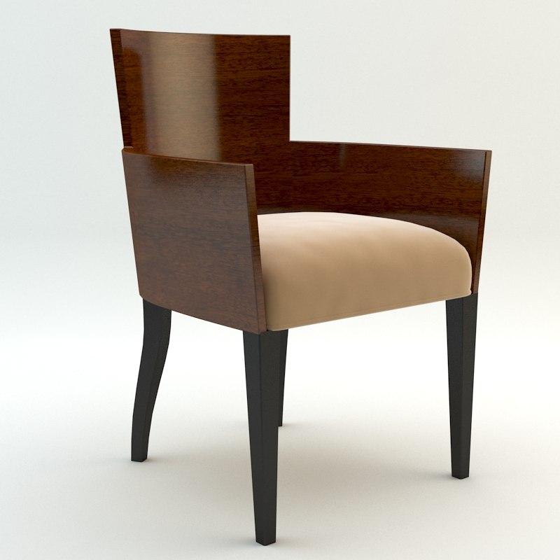 chair armchair simple 3d model