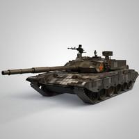 3d obj china ztz-99 tank 99