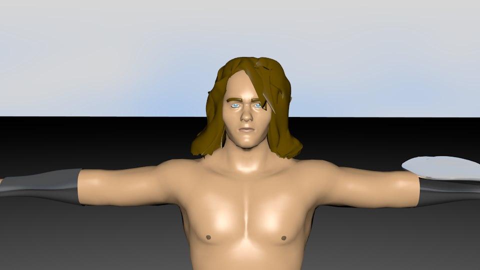 3d human medieval hero model