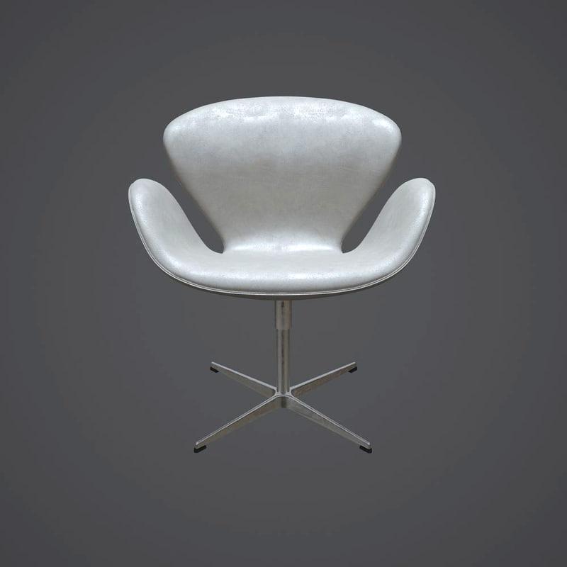 swan chair 3320 3d model
