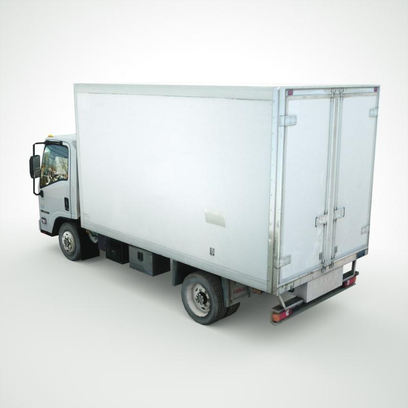 isuzu npr refrigerator truck 3d 3ds