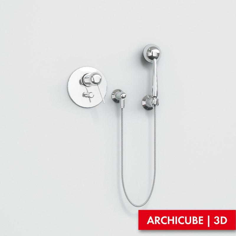 3d bath mixer model