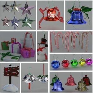 christmas pack 3d model