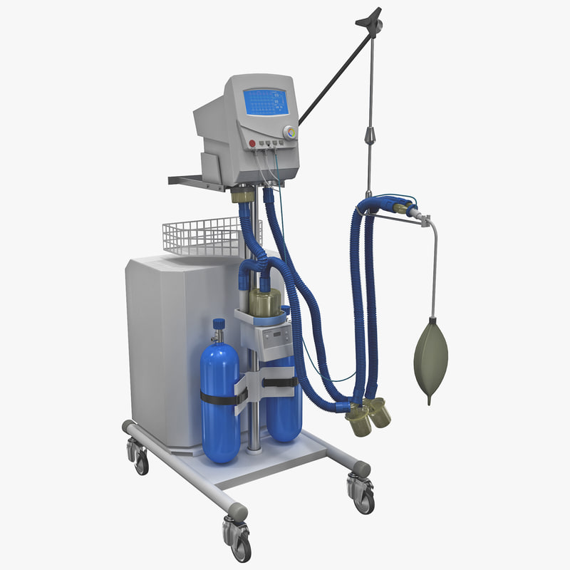 3d model of artificial lung ventilation device