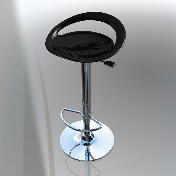 modern kitchen bar stool c4d free