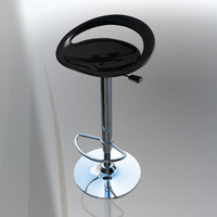 modern kitchen bar stool c4d free