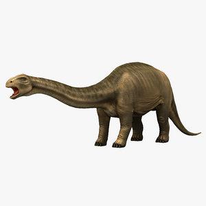 brontosaurus prehistoric dinosaur 3d model