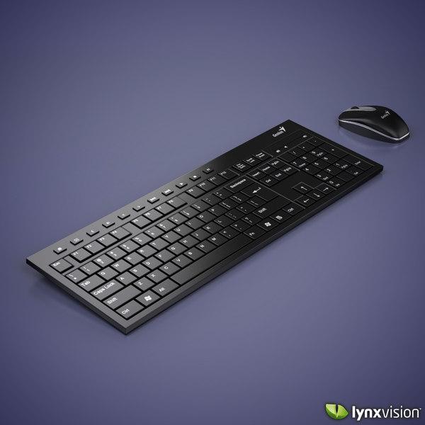 obj keyboard mouse kit genius