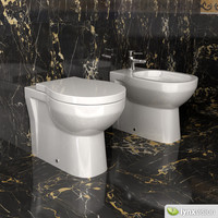 toilet bidet duravit 3d model