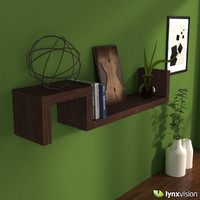3d s wall mounted shelf model