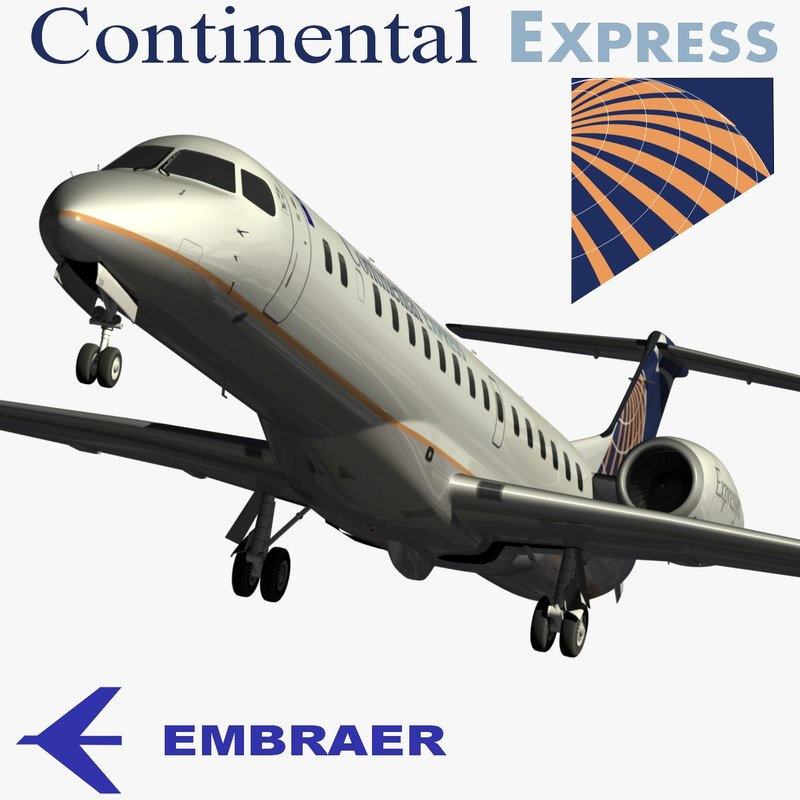3d model embraer erj-145xr