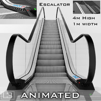 3d escalator 4m