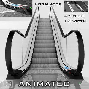 3d escalator 4m