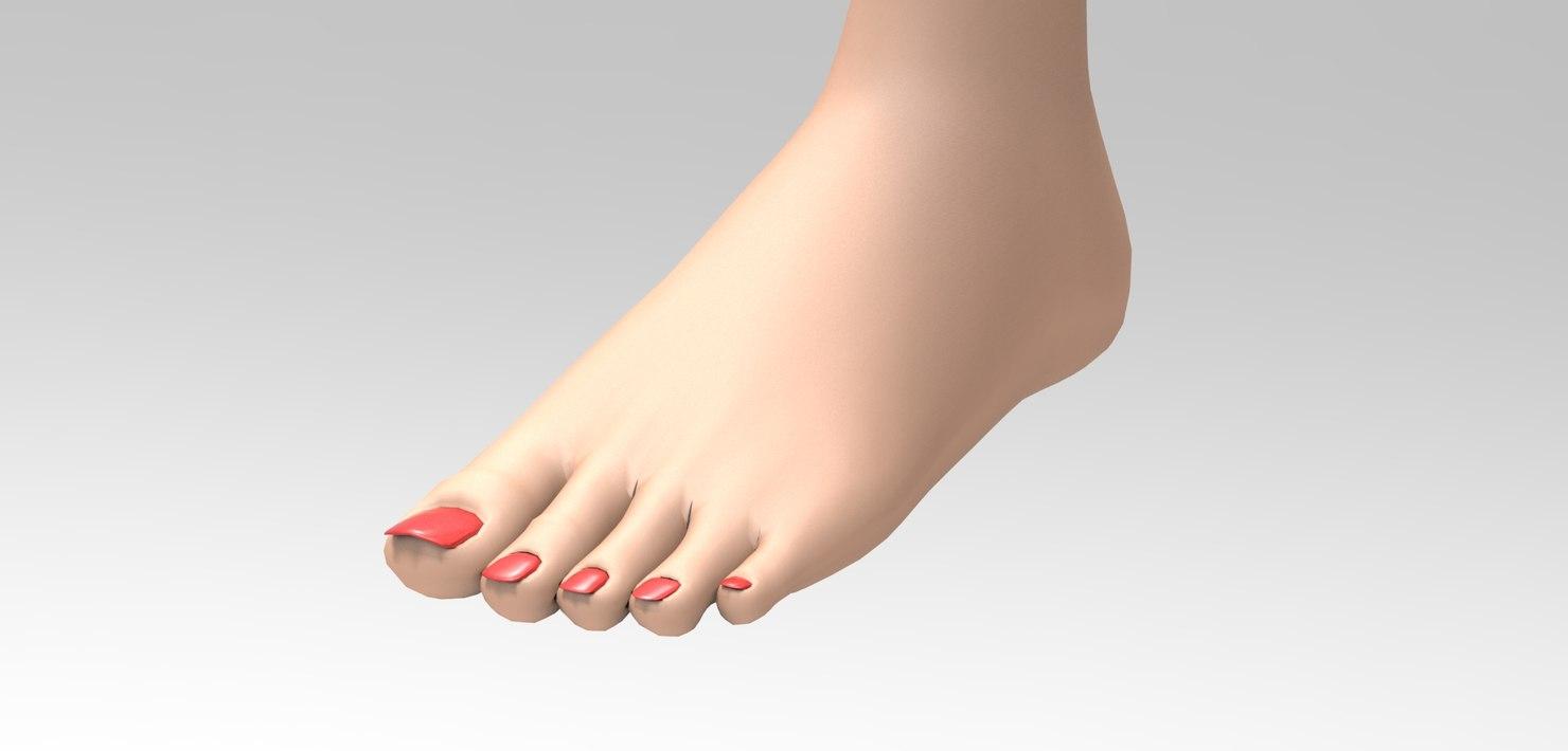 3ds girl leg