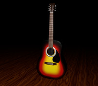 3ds acoustic guitar -
