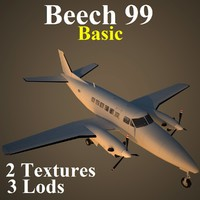 3d beech 99 basic model