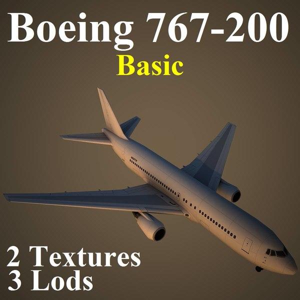 boeing 767-200 basic 3d model