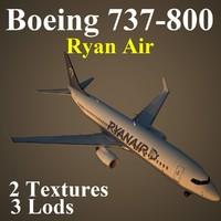 3d boeing 737-800 ryr1 model