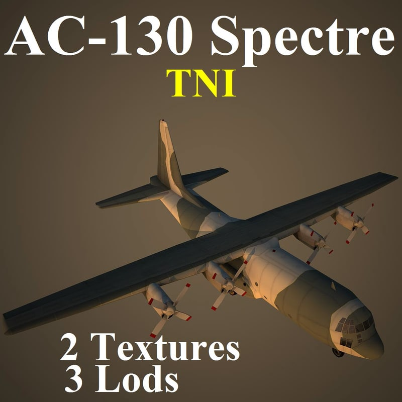 3d ac-130 spectre tni model