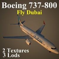 3d model boeing 737-800 fdb