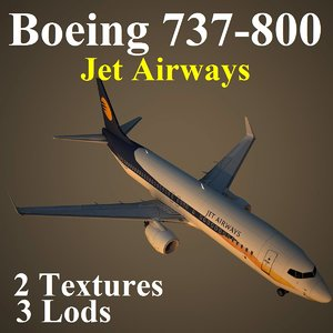 3d model boeing 737-800 jet jai