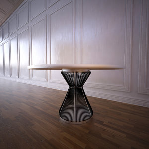 3d model hide table