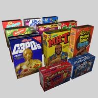 3d model cereals