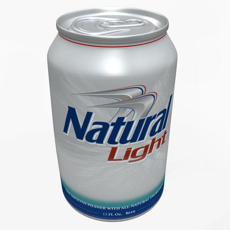 3d natural light beer model