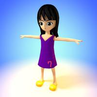 free c4d mode character nico robin girl