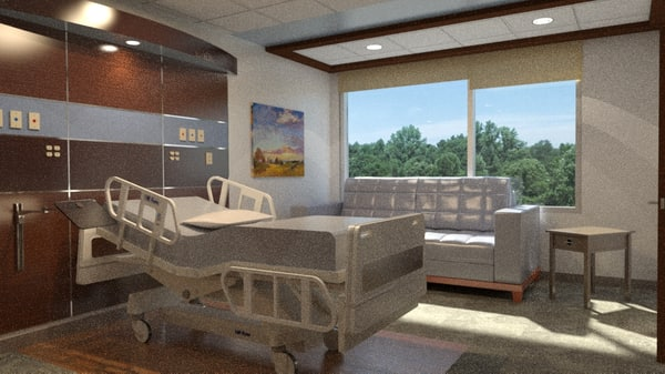 275 patient room sf max