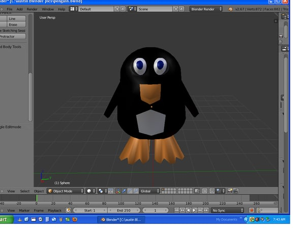 3d model of penguin