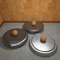 Three Small Metal Presentation Plates