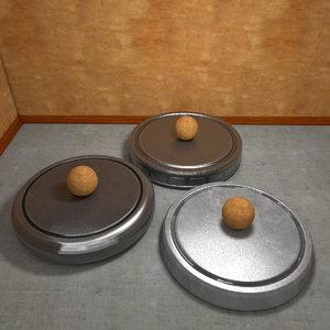 3d presentation plates model